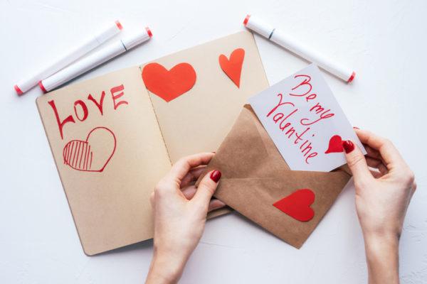 Manualidades para san valentin para ninos tarjeta