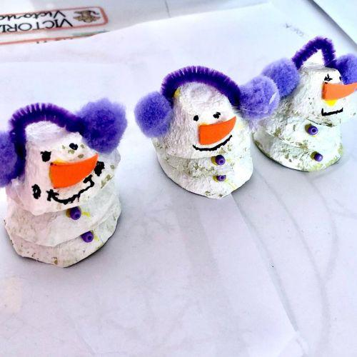 Manualidad de muñecos de nieve