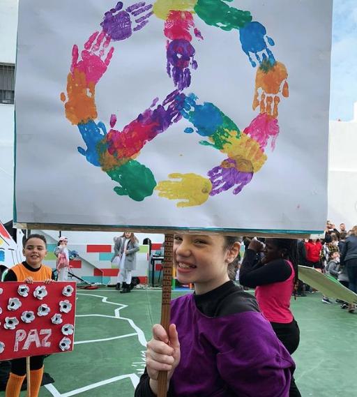 Las mejores manualidades para Día escolar de la paz y la No Violencia 2021 símbolo de la paz