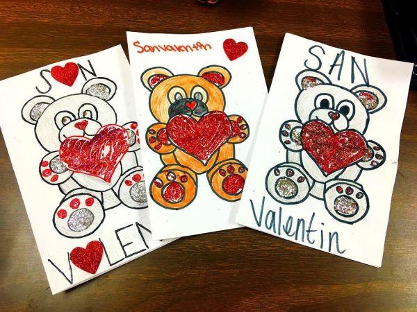 Postales de osos con corazón