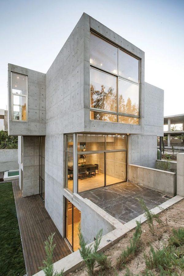 Ideas consejos para hacer fachada casa MODERNA Fachada de cemento quemado