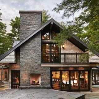 Ideas consejos para hacer fachada casa MODERNA Fachada moderna pero de inspiración rústica
