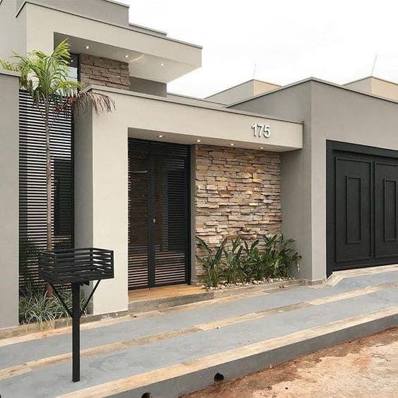 Ideas consejos para hacer fachada casa MODERNA fachada revestida ladrillos