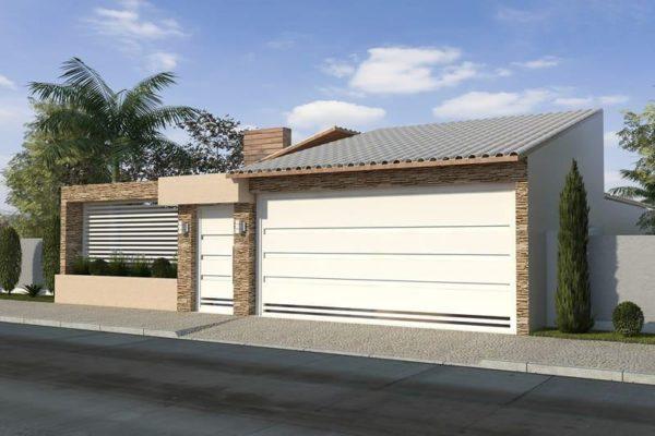 Ideas consejos para hacer fachada casa MODERNA fachada tonos neutros revestida piedra
