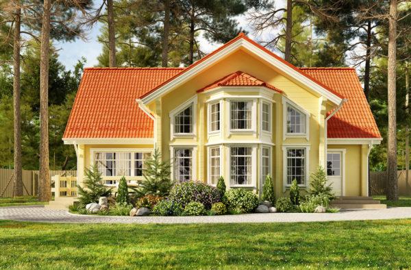 Ideas consejos para hacer fachada casa clásica amarillo naranja ventanas
