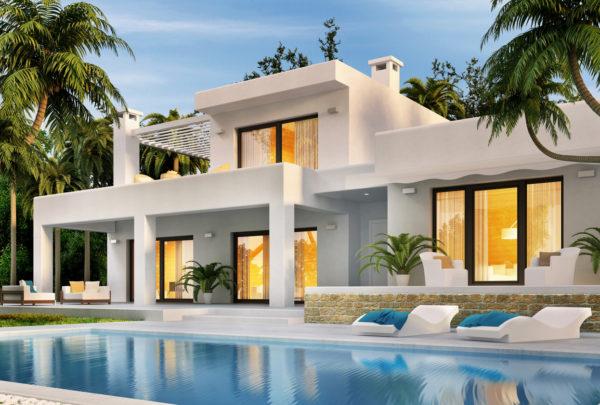 Ideas consejos para hacer fachada casa minimalista blanca