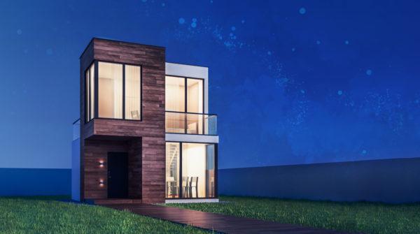 Ideas consejos para hacer fachada casa minimalista fachada casa minimalista en dos materiales grandes ventanas