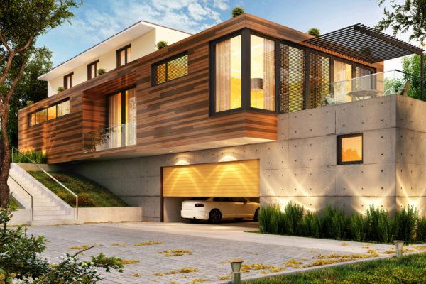 Ideas consejos para hacer fachada casa minimalista fachada grande con madera