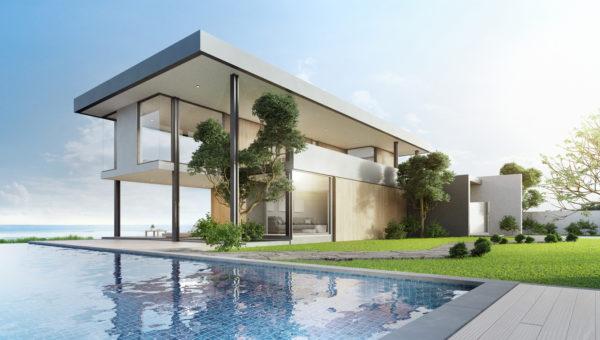 Ideas consejos para hacer fachada casa minimalista fachada lineas abiertas con piscina