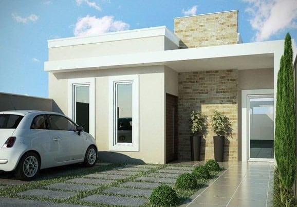 Ideas consejos para hacer fachada casa pequena fachada con diseño moderno y rustico