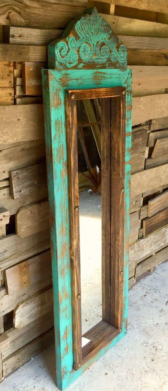 Ideas consejos para hacer muebles rusticos con madera FOTOS espejo