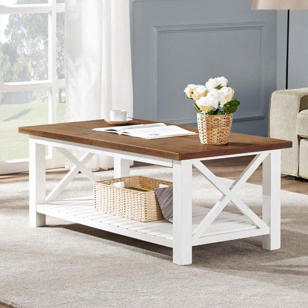 Ideas consejos para hacer muebles rusticos con madera FOTOS mesa auxiliar