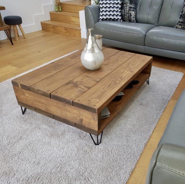 Ideas consejos para hacer muebles rusticos con madera mesa auxiliar salon