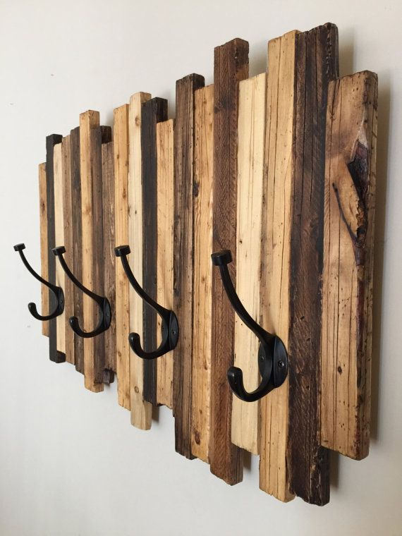 Ideas consejos para hacer muebles rusticos con madera perchero
