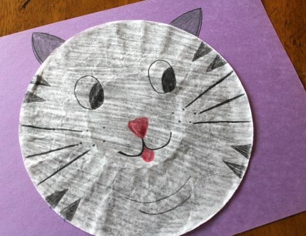 Mejores manualidades dia internacional gato plato