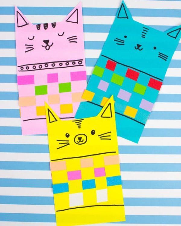 Mejores manualidades dia internacional gato puntos libro gato