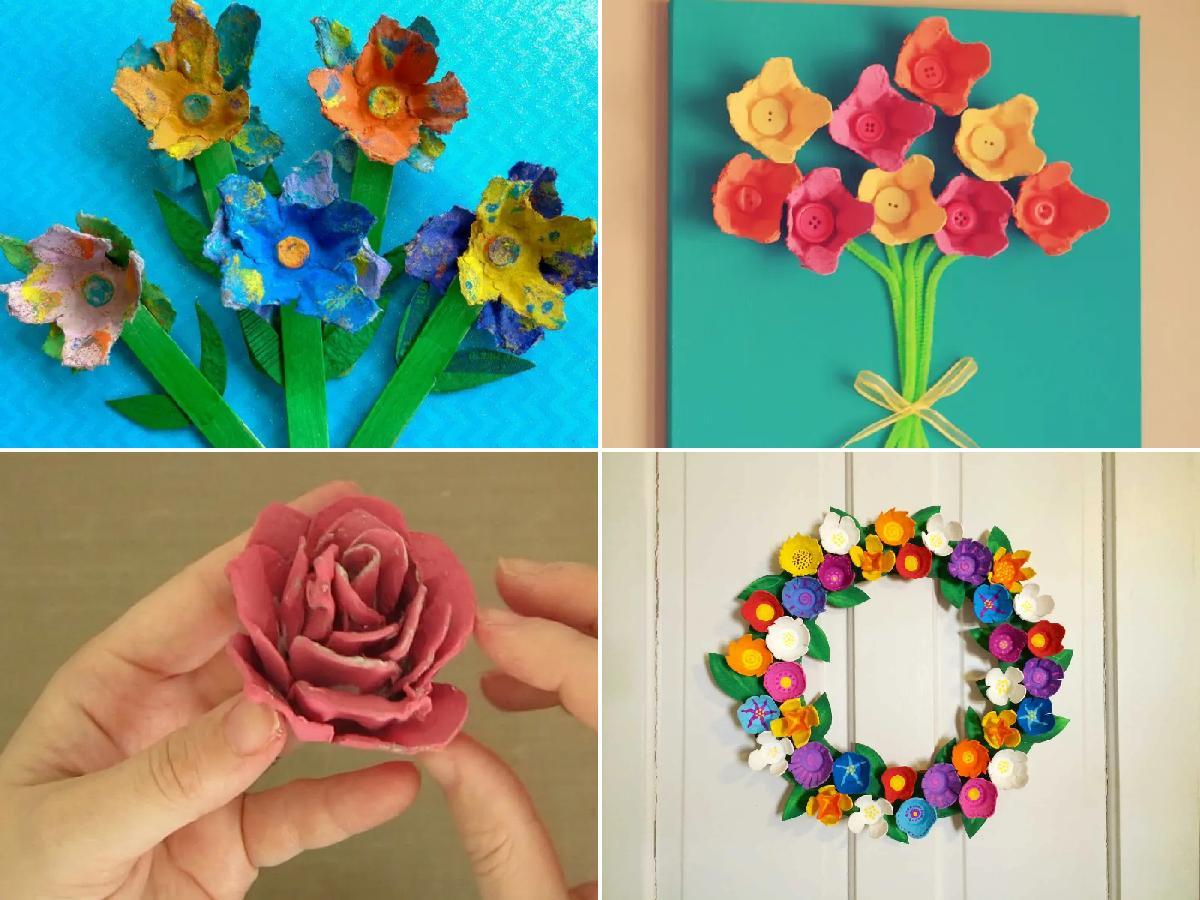 Las Mejores Ideas Para Hacer Flores Con Cartón De Huevo Manualidades Es