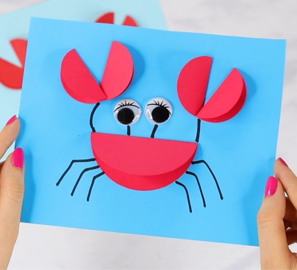 Manualidades faciles de verano para ninos cangrejo