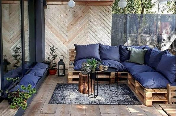 30 Ideas para decorar la terraza en Primavera Verano azul oscura