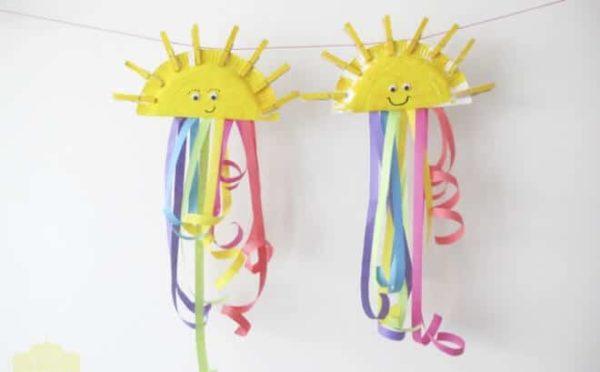 Manualidades faciles de verano para ninos FOTOS medusas carton