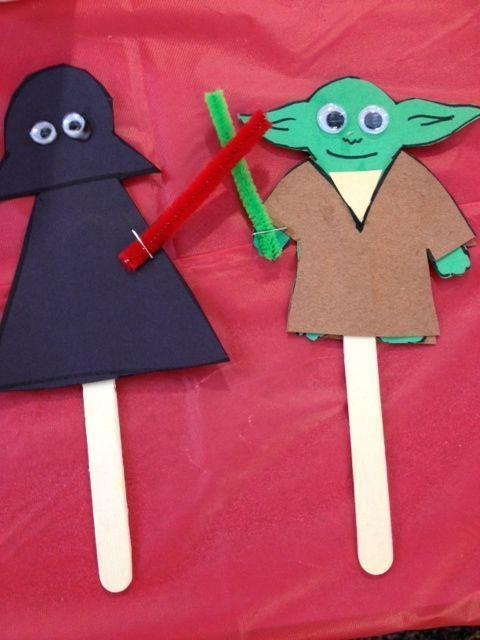 Manualidades de Star Wars para niños en 2021 palos muñecos