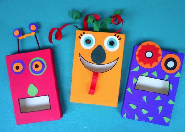Las mejores manualidades con materiales reciclados para niños de 3 años buzones