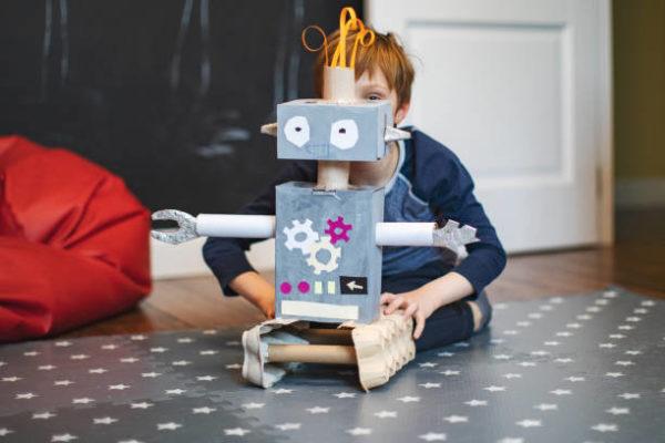 Juguetes reciclados robots