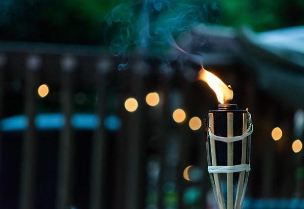 Las mejores ideas para iluminar tu jardin sin contaminar antorcha jardin