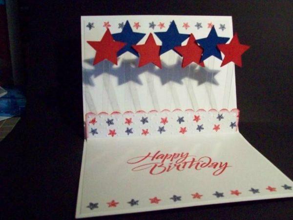 Las mejores tarjetas hechas a mano para el dia de independencia de los estados unidos con efecto 3d