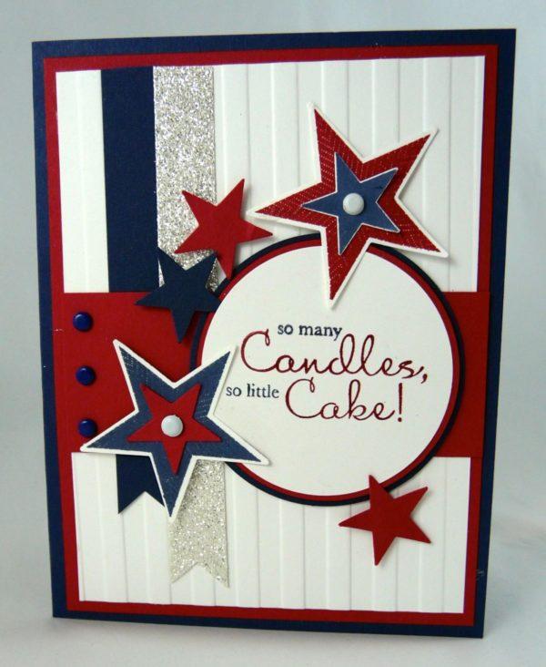 Las mejores tarjetas hechas a mano para el dia de independencia de los estados unidos con estrellas
