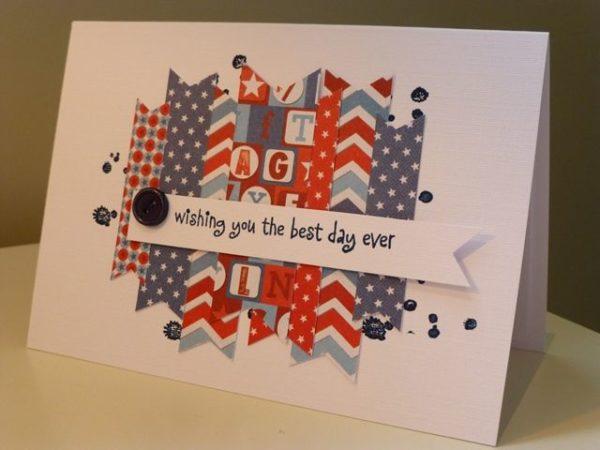 Las mejores tarjetas hechas a mano para el dia de independencia de los estados unidos con letras grandes