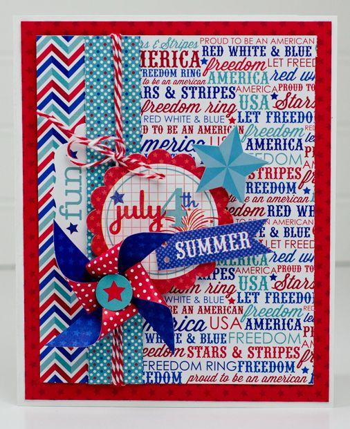 Las mejores tarjetas hechas a mano para el dia de independencia de los estados unidos con letras