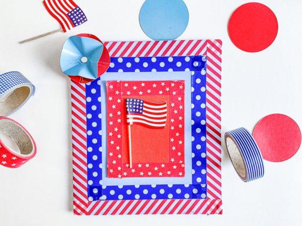 Las mejores tarjetas hechas a mano para el dia de independencia de los estados unidos con washi tape