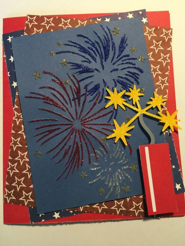 Las mejores tarjetas hechas a mano para el dia de independencia de los estados unidos fuegos artificiales