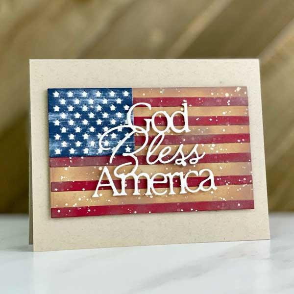 Las mejores tarjetas hechas a mano para el dia de independencia de los estados unidos god bless america