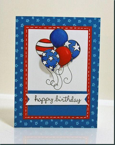 Las mejores tarjetas hechas a mano para el dia de independencia de los estados unidos pintura
