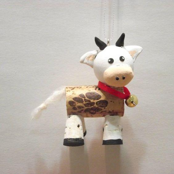 Ideas y consejos para hacer animales con corchos para niños vaca Lola