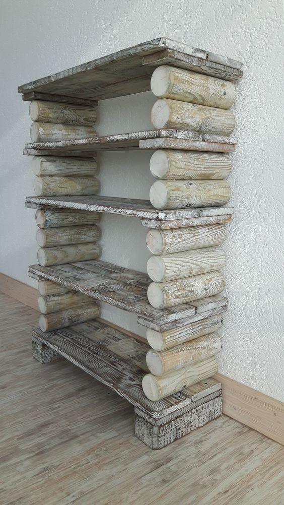 Las mejores ideas y consejos para decorar tu casa sin mucho dinero estantería troncos