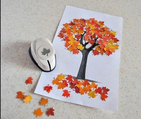 20 ideas para hacer manualidades con hojas secas de los árboles otoño