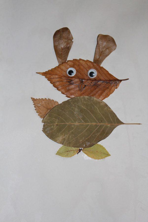 20 ideas para hacer manualidades con hojas secas de los árboles conejo