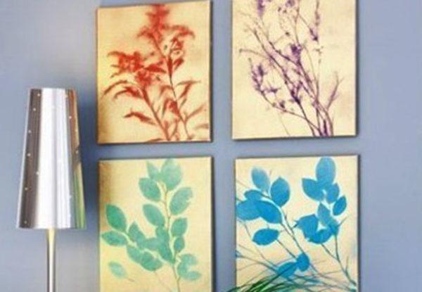 20 ideas para hacer manualidades con hojas secas de los árboles cuadro