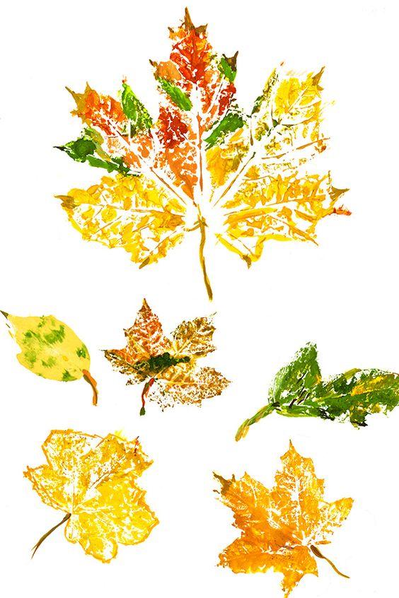 20 ideas para hacer manualidades con hojas secas de los árboles huellas