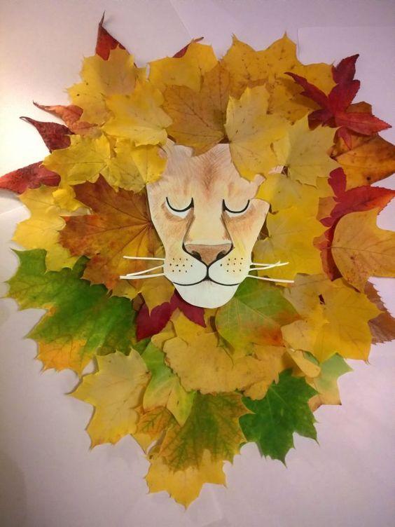 20 ideas para hacer manualidades con hojas secas de los árboles león