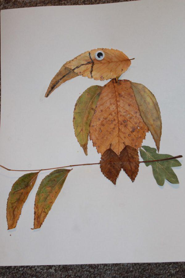 20 ideas para hacer manualidades con hojas secas de los árboles pájaro