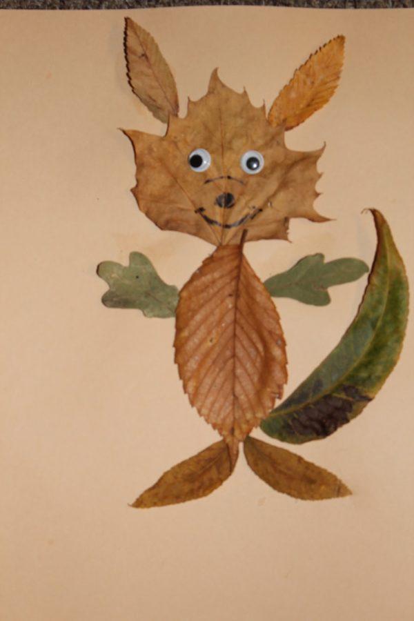 20 ideas para hacer manualidades con hojas secas de los árboles gato