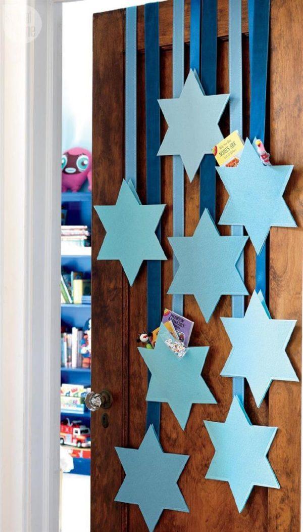 Ideas de manualidades para ninos para el dia de hanukkah bolsa estrella david