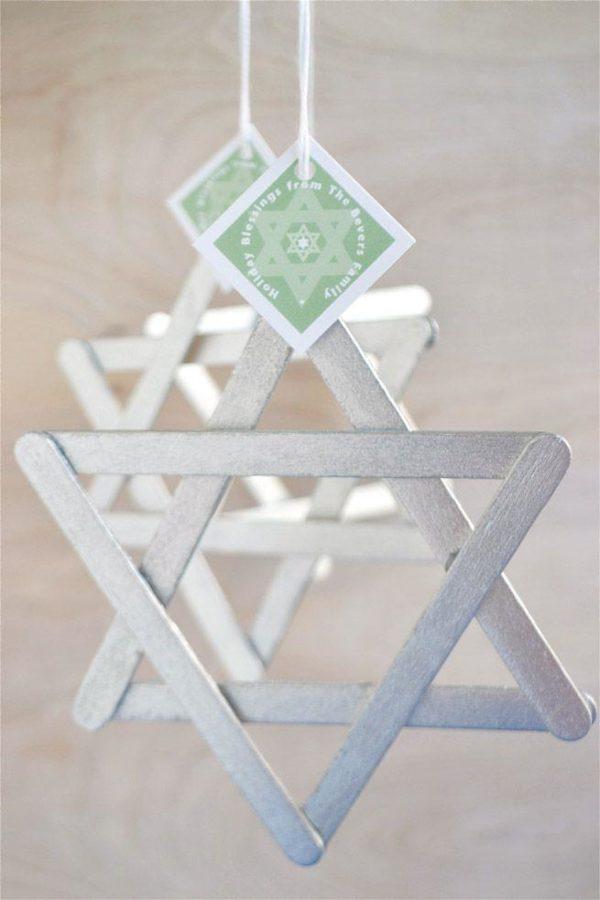 Ideas de manualidades para ninos para el dia de hanukkah bolsa estrella david palos