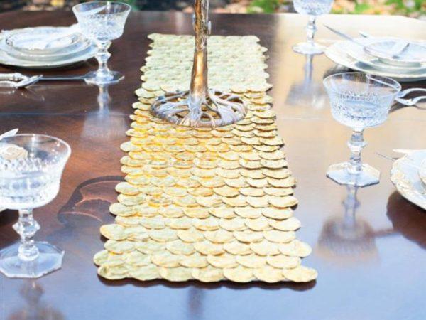 Ideas de manualidades para ninos para el dia de hanukkah camino mesa monedas
