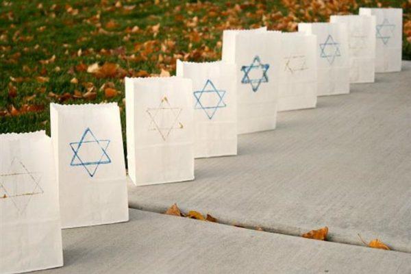 Ideas de manualidades para ninos para el dia de hanukkah lampara bolsa