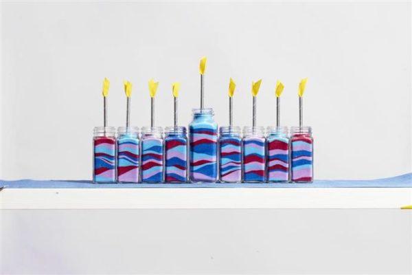 Ideas de manualidades para ninos para el dia de hanukkah velas